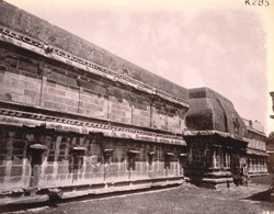 Portion of carved and inscribed wall, Vaidyanath Temple, Tirumalavadi